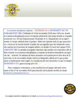 11182018 DIV10-11 INTENSITY